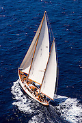 Sumurun sailing in the Antigua Classic Yacht Regatta, Windward Race.