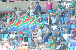 Pretoria 26-12-18. The 1st of three 5 day cricket Tests, South Africa vs Pakistan at SuperSport Park, Centurion. Day 1. Cricket supporters wave flags in the grand stand area. Picture: Karen Sandison/African News Agency(ANA)