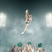 Image done for the 2018 620 CKRM Rider Cheer Team calendar.