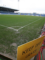 Photo: Lee Earle.<br /> Portsmouth v Arsenal. The Barclays Premiership. 25/03/2006. The Portsmouth pitch, moments after the game being called off.