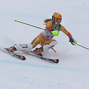 Winter Olympics, Vancouver, 2010.Erin Mielzynski, Canada,  in action in the Alpine Skiing Ladies Slalom at Whistler Creekside, Whistler, during the Vancouver Winter Olympics. 24th February 2010. Photo Tim Clayton