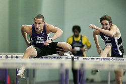 London, Ontario ---11-01-22---   Matt Brisson of the Western Mustangs competes at the 2011 Don Wright meet at the University of Western Ontario, January 22, 2011..GEOFF ROBINS/Mundo Sport Images.