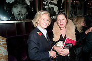RONA DELVES-BROUGHTON; LAVINIA VERNEY, Lauren Goldstein Crowe hosts reception to thank those that particitated in the research for her book: Isabella, A Life in Fashion. The Fumoir. Claridge's. London. 8 November 2010. -DO NOT ARCHIVE-© Copyright Photograph by Dafydd Jones. 248 Clapham Rd. London SW9 0PZ. Tel 0207 820 0771. www.dafjones.com.
