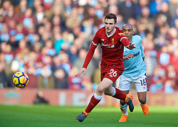 LIVERPOOL, ENGLAND - Saturday, February 24, 2018: Liverpool's Andy Robertson during the FA Premier League match between Liverpool FC and West Ham United FC at Anfield. (Pic by David Rawcliffe/Propaganda)