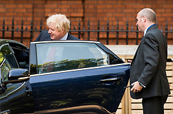 © Licensed to London News Pictures. 16/07/2018. London, UK. Former Foreign Secretary BORIS JOHNSON is seen leaving his London home on the day former former education secretary Justine Greening has called for a second referendum on the EU. Foreign secretary Boris Johnson and Brexit secretary David Davis resigned in protest over Number 10 plans for Brexit. Photo credit: Ben Cawthra/LNP