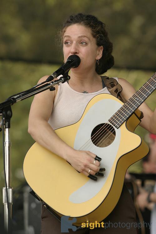Jun 11, 2004; Manchester, TN, USA; Ani DiFranco performing at Bonnaroo 2004. Mandatory Credit: (©) Copyright 2004 by Bryan Rinnert