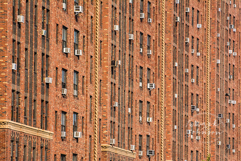 Brick Building With Air Conditioners West Side Manhattan New York