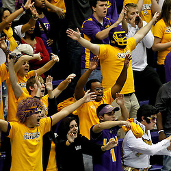 January 2, 2012; Baton Rouge, LA; LSU Tigers fans cheer from the stands during the second half of a game against the Virginia Cavaliers at the Pete Maravich Assembly Center. Virginia defeated LSU 57-52.  Mandatory Credit: Derick E. Hingle-US PRESSWIRE