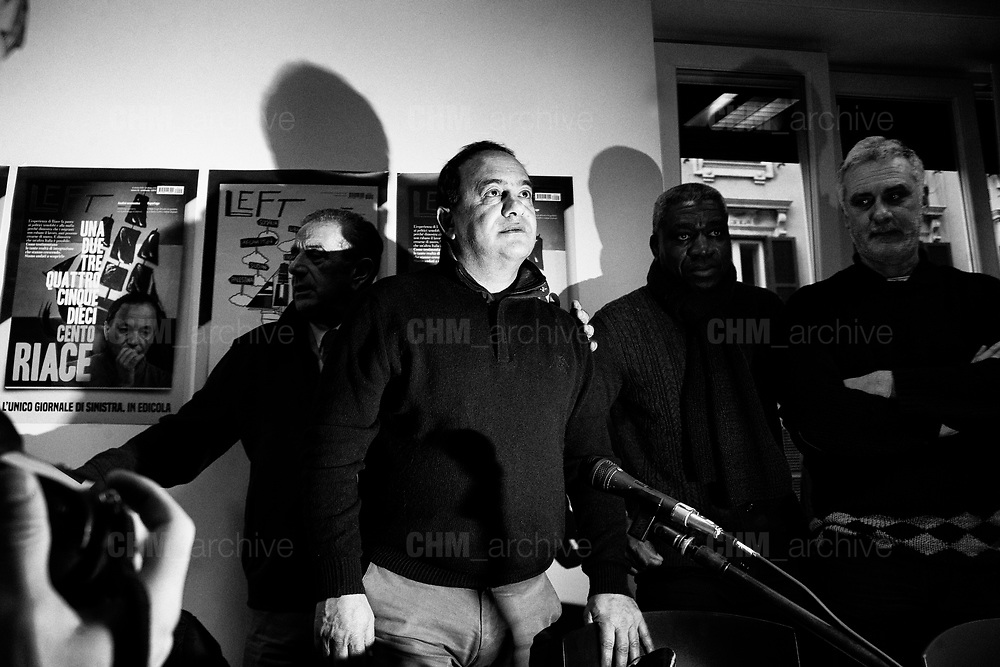 Mimmo Lucano during press conference for the Campaign Riace Nobel prize. Rome 30 January 2019. Christian Mantuano / OneShot