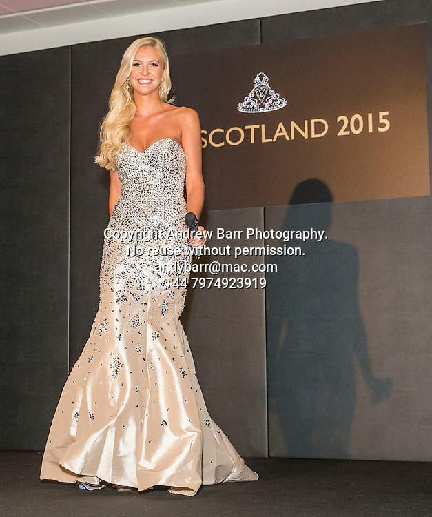 27-08-2015<br /> Miss Scotland 2015 final at Raddison Blu, Glasgow.<br /> <br /> Ellie McKeating (Miss Scot 2014)  <br /> <br /> Pic:Andy Barr<br /> <br /> www.andybarr.com<br /> <br /> Copyright Andrew Barr Photography.<br /> No reuse without permission.<br /> andybarr@mac.com<br /> +44 7974923919