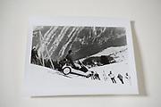 David Kirke in the Sinclair C5, Dangerous Sports club ski race, St. Moritz. 1985