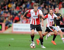 Harry Pell of Cheltenham Town - Mandatory by-line: Nizaam Jones/JMP - 05/11/2016 - FOOTBALL - LCI Rail Stadium - Cheltenham, England - Cheltenham Town v Crewe Alexandra - Emirates FA Cup first round