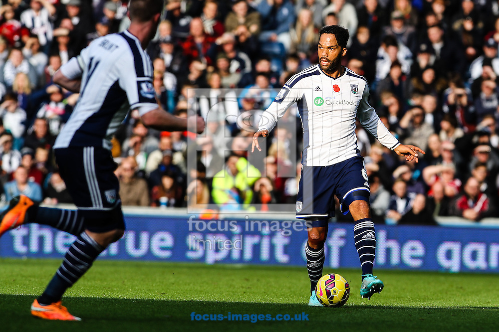 Joleon Lescott of West Bromwich Albion (right) during the Barclays Premier League match at The Hawthorns, West Bromwich<br /> Picture by Andy Kearns/Focus Images Ltd 0781 864 4264<br /> 09/11/2014