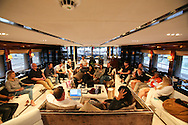 ANTIBES, FRANCE - OCTOBER 16:  Atmosphere during listening session at the Cross Creative lounge aboard the Bliss Yacht as part of Songwriting Invitational Group events on October 16, 2015 in Antibes, France.  (Photo by Tony Barson/Getty Images for The Invitational Group)