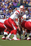Louisville quarterback Hunter Cantwell (14) calls out the play in the first half against Kansas State at Bill Snyder Family Stadium in Manhattan, Kansas, September 23, 2006.  The 8th ranked Louisville Cardinals beat K-State 24-6.