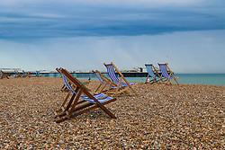 © Hugo Michiels Photography. Deckchairs on Brighton Beach. Photo credit: Hugo Michiels