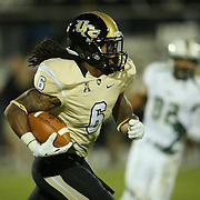 UCF Knights wide receiver Rannell Hall (6) runs during an NCAA football game between the South Florida Bulls and the 17th ranked University of Central Florida Knights at Bright House Networks Stadium on Friday, November 29, 2013 in Orlando, Florida. (AP Photo/Alex Menendez)