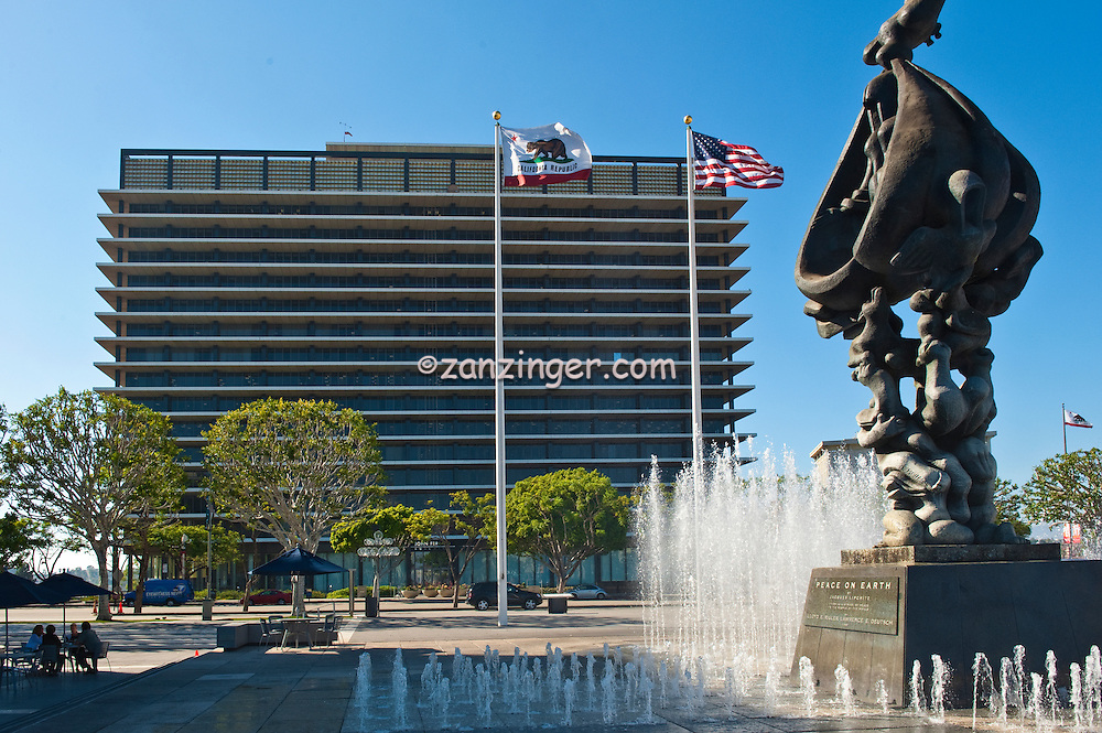 """""""Peace on Earth""""  Fountain Without Falls, LADWP Building"""