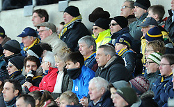 Oxford United fans at the Kassam Stadium for second round FA Cup tie against Tranmere Rovers - Photo mandatory by-line: Paul Knight/JMP - Mobile: 07966 386802 - 06/12/2014 - SPORT - Football - Oxford - Kassam Stadium - Oxford United v Tranmere Rovers - FA Cup Second Round