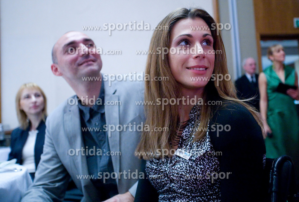 Matija and Marija Sestak, Best Slovenian athlete of the year at ceremony, on November 15, 2008 in Hotel Lev, Ljubljana, Slovenia. (Photo by Vid Ponikvar / Sportida)