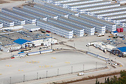 Three-story temporary workers housing settlements at Imperial Oil Kearl tar sands mine