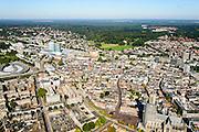 Nederland, Gelderland, Arnhem, 30-09-2015; zicht op de binnenstad van Arnhem met Sint-Eusebiuskerk (Eusebius, Eusebiuskerk of Grote Kerk). Links van het midden Arnhem Centraal.<br /> <br /> View of the city of Arnhem.<br /> luchtfoto (toeslag op standard tarieven);<br /> aerial photo (additional fee required);<br /> copyright foto/photo Siebe Swart