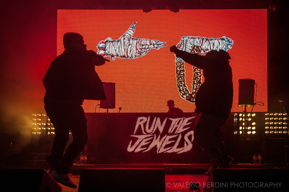 Run The Jewels live on stage at Field Day 2015 in Victoria Park, London
