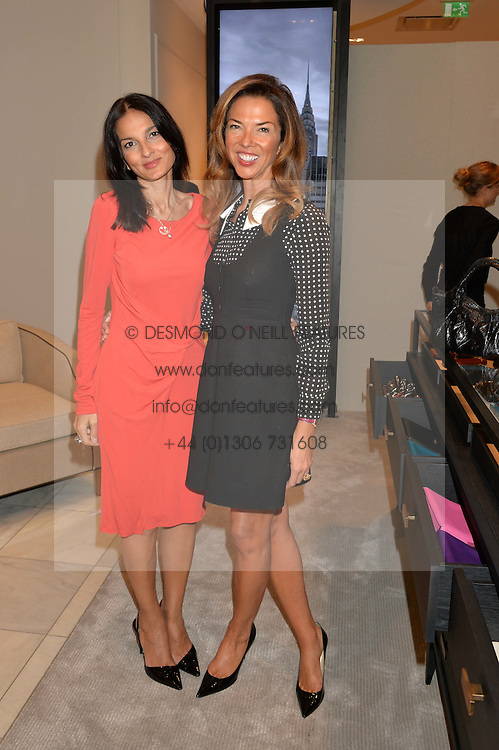 Left to right, YASMIN MILLS and HEATHER KERZNER at a lunch hosted by Alice Naylor-Leyland and Tamara Beckwith in celebration of the Coach 2015 collection held at Coach, New Bond Street, London on 18th September 2014.