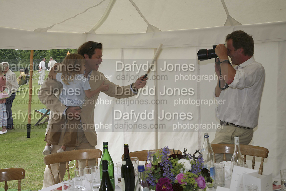 ARPAD BUSSON, CY AND HUGO BURNAND, Guy Leymarie and Tara Getty host The De Beers Cricket Match. The Lashings Team versus the Old English team. Wormsley. ONE TIME USE ONLY - DO NOT ARCHIVE  © Copyright Photograph by Dafydd Jones 66 Stockwell Park Rd. London SW9 0DA Tel 020 7733 0108 www.dafjones.com