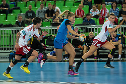 Ana Abinar of Krim during handball match between RK Krim Mercator (SLO) and Larvik (NOR) in 3rd Round of Women's EHF Champions League 2015/16, on October 30, 2015 in Arena Stozice, Ljubljana, Slovenia. Photo by Grega Valancic / Sportida