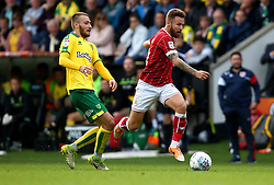 Matty Taylor of Bristol City goes past Wesley Hoolahan of Norwich City - Mandatory by-line: Robbie Stephenson/JMP - 23/09/2017 - FOOTBALL - Carrow Road - Norwich, England - Norwich City v Bristol City - Sky Bet Championship