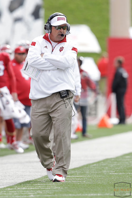 04 October 2014: Indiana Hoosiers head coach Kevin Wilson  as the Indiana Hoosiers played North Texas in a NCAA college football game in Bloomington, IN.