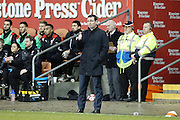 Blackpool Manager Gary Bowyer gives the thumbs up to his team as they hold Barnsley's to 0-0 draw in the The FA Cup 3rd round match between Blackpool and Barnsley at Bloomfield Road, Blackpool, England on 7 January 2017. Photo by Craig Galloway.