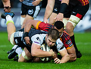 Olly Cracknell of Ospreys<br /> <br /> Photographer Simon King/Replay Images<br /> <br /> Guinness PRO14 Round 6 - Ospreys v Southern Kings - Saturday 9th November 2019 - Liberty Stadium - Swansea<br /> <br /> World Copyright © Replay Images . All rights reserved. info@replayimages.co.uk - http://replayimages.co.uk