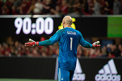 December 8, 2018 - Atlanta, Georgia, United States - Atlanta United goalkeeper BRAD GUZAN (1) pumps up the crowds in stoppage time during the MLS Cup at Mercedes-Benz Stadium in Atlanta, Georgia.  Atlanta United defeats Portland Timbers 2-0 (Credit Image: © Mark Smith/ZUMA Wire)