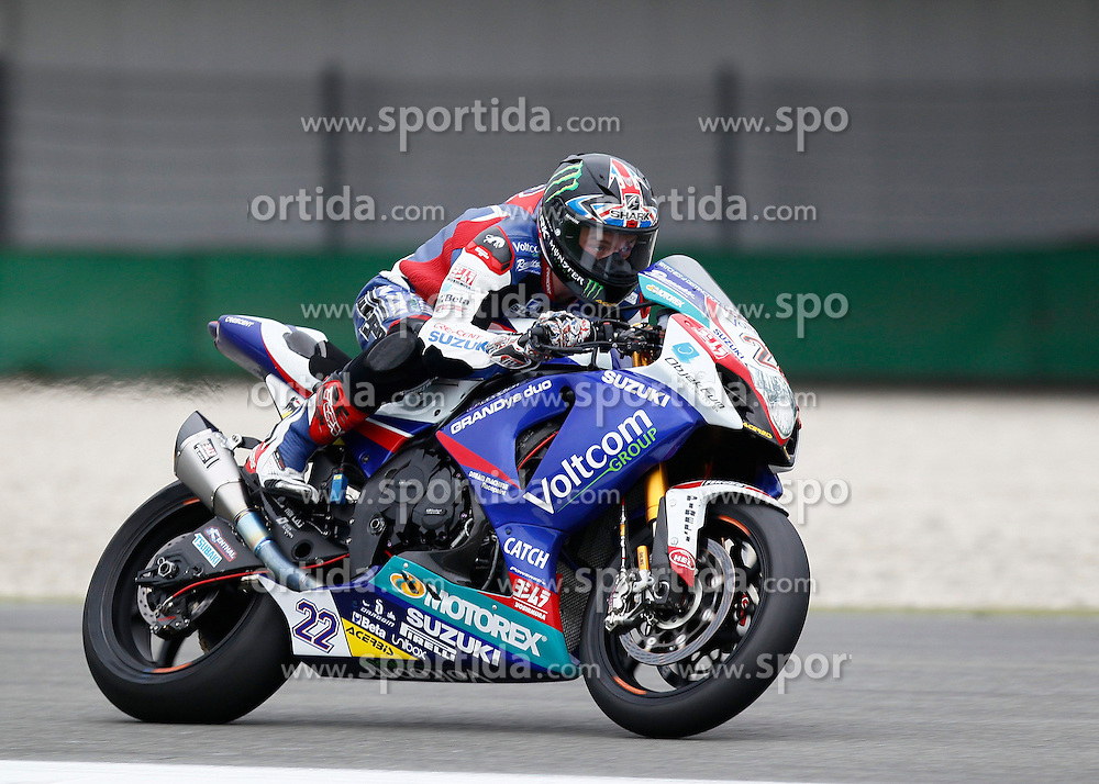 27.04.2014, TT Assen Circuit, Assen, NED, FIM, Superbike World Championship, Assen, Warm Up, Rennen, im Bild Alexander Lowes // during the Warm up and Race of Round 3 - Assen FIM Superbike World Championship at the TT Assen Circuit in Assen, Netherlands on 2014/04/27. EXPA Pictures &copy; 2014, PhotoCredit: EXPA/ Eibner-Pressefoto/ Stiefel<br /> <br /> *****ATTENTION - OUT of GER*****