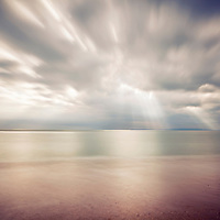 Rays of light at Hengistbury Head long exposure seascape