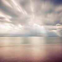 Rays of light at Hengistbury Head long exposure seascape