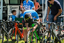 Team Slovenia during 2nd Stage of 26th Tour of Slovenia 2019 cycling race between Maribor and Celje (146,3 km), on June 20, 2019 in  Slovenia. Photo by Peter Podobnik / Sportida