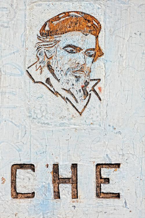 Image of Ernesto Che Guevara in Playa María La Gorda, Pinar del Rio, Cuba.