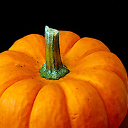 A closeup of a orange pumpkin gourd.