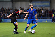 AFC Wimbledon midfielder Mitchell (Mitch) Pinnock (11) dribbling during the Pre-Season Friendly match between AFC Wimbledon and Crystal Palace at the Cherry Red Records Stadium, Kingston, England on 30 July 2019.
