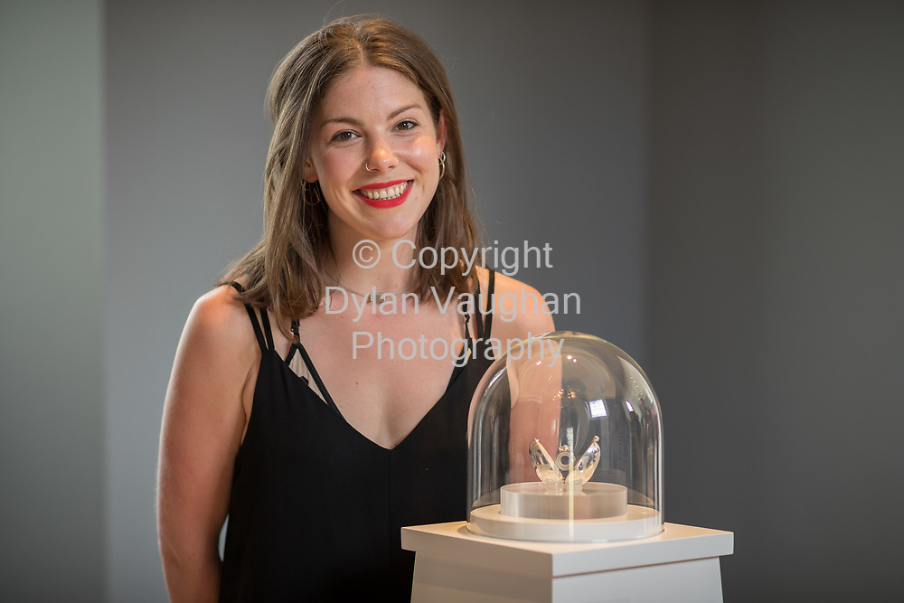 Repro Free No Charge for Repro<br /> <br /> <br /> 14-7-17<br /> Mollie Paling pictured at the opening of Lustre, an exhibition of work by the 2017 graduates of the Design &amp; Crafts Council of Ireland&rsquo;s world-renowned Jewellery and Goldsmithing Skills &amp; Design Course, which runs at the&nbsp;National Craft Gallery, Kilkenny until 7 August 2017.<br /> <br /> Picture Dylan Vaughan.