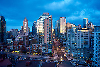 Downtown Vancouver at dawn, , Vancouver , British Columbia, Canada