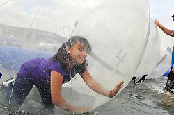 The giant water bubbles were popular at Sunday's annual California Airshow Salinas. Aviation action, plenty of food and drink, and multiple attractions kept families happy.