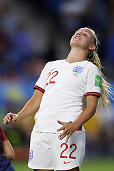 June 27, 2019 - Le Havre, France - Beth Mead (Arsenal WFC) of England lament a failed occasion during the 2019 FIFA Women's World Cup France Quarter Final match between Norway and England at  on June 27, 2019 in Le Havre, France. (Credit Image: © Jose Breton/NurPhoto via ZUMA Press)