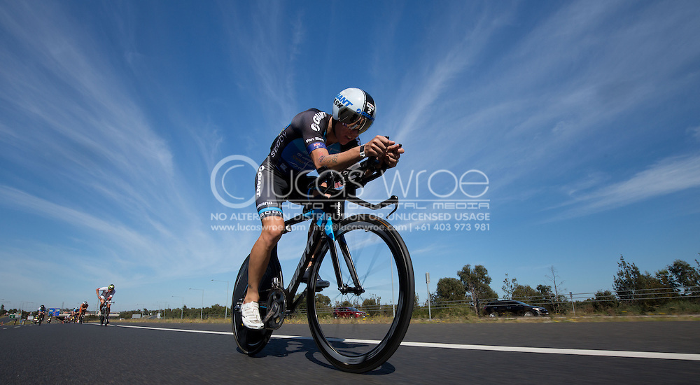 General Event Coverage, March 22, 2015 - TRIATHLON : Ironman Melbourne Asia Pacific Chamionships, Frankston to St Kinda, Melbourne, Victoria, Australia. Credit: Lucas Wroe