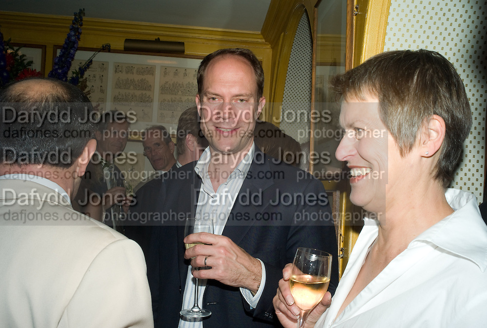 HARRY BLAIN; PATRICIA VICKERS, Richard Prince opening at the Serpentine gallery and afterwards at Annabels. London. 25 June 2008 *** Local Caption *** -DO NOT ARCHIVE-© Copyright Photograph by Dafydd Jones. 248 Clapham Rd. London SW9 0PZ. Tel 0207 820 0771. www.dafjones.com.