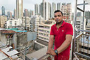 "Hong Kong, Hong Kong SAR,China. <br /> File Image<br /> Edward Snowden hid with local refugees to avoid capture in Hong Kong during June 2013. <br /> Their story is hinted at in the new Oliver Stone film ""Snowden"" <br /> Refugee Supun Thilina Kellapatha. This is the roof of their building showing the illegal structures in this poor area of the city.<br /> ©Jayne Russell 16th June 2016"