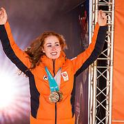 NLD/Amsterdam/20180226 - Thuiskomst TeamNL, Antoinette De Jong